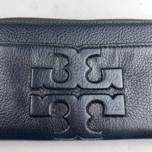 Tory Burch Bags - Tory Burch Thea Black Leather Wallet Large Logo